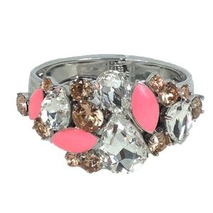 Kate Spade Frosty Floral Hinged Statement Bangle